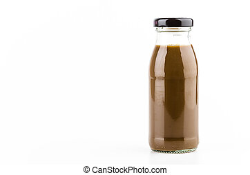 Coffee bottle isolated white background