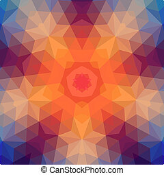 Retro star vector backdrop of geometric shapes. Colorful...