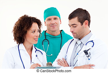 Surgeon in Discussion with Doctors