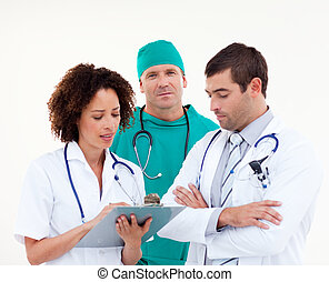 Medical team in Discussion - Young Medical team in...