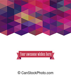 Triangle template background, triangle background, vector...