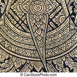 pattern in traditional Thai style art painting