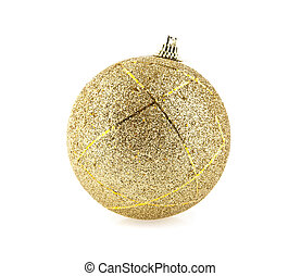 christmas decorations on a white background.Picture from...