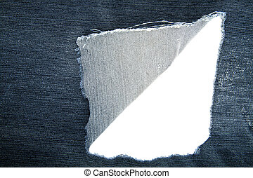 lacerated fabric as background
