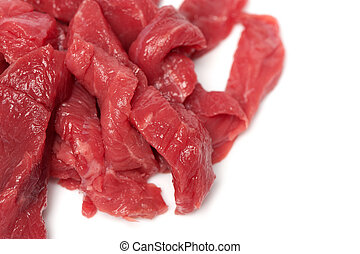 Red Meat isolated on white background