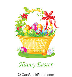 Happy Easter - easy to edit vector illustration of Happy...