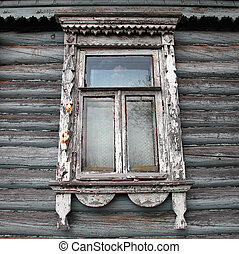 window - Window in the rural Russian house