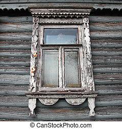window - Window in the rural Russian house