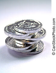 money coin stack