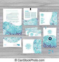 Vector corporate identity, wave pattern. Abstract...