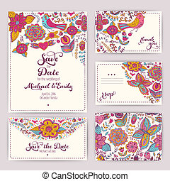 Printable Wedding Invitation Template: invitation, envelope,...