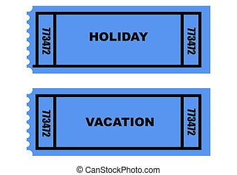 Holiday_Vacation_tickets - Illustration of two holiday and...