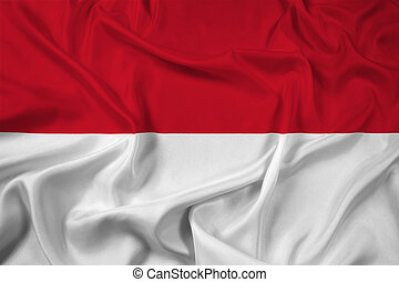 Waving Indonesia Flag