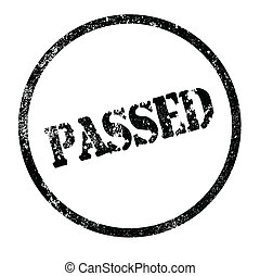 Passed Stamp - A passed rubber stamp impression isolated...