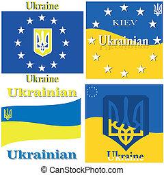 Ukrainian flag. - Europe, Corporation, Logo, Symbol,...