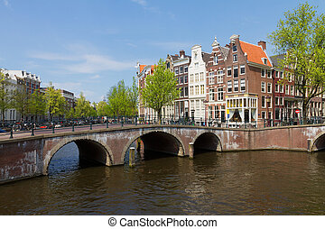 bridges of canal ring, Amsterdam - bridges of canal ring at...