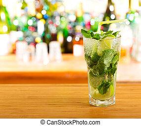 mojito cocktail in a bar