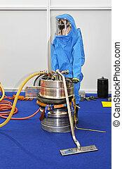Hazardous materials - Hazmat suit for protection from...