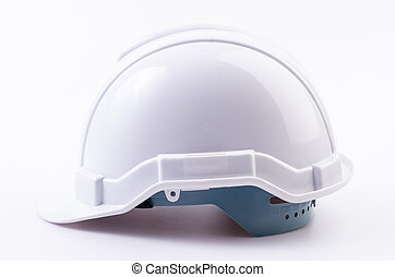 White helmet on isolated white background