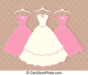 wedding dress - an illustration of a wedding dress on a...