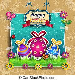 Páscoa, ovo, caricatura