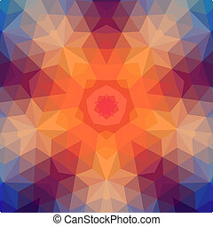 Retro star backdrop of geometric shapes. Colorful mosaic...