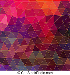 Triangles pattern of geometric shapes Colorful mosaic...