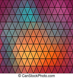 Triangles pattern of geometric shapes. Colorful mosaic...