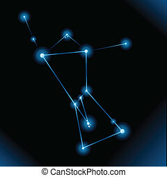 Orion Constellation - Illustration of the star constellation...