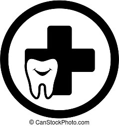 dental icon with smile tooth