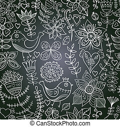 chalkboard seamless floral pattern Copy that square to the...
