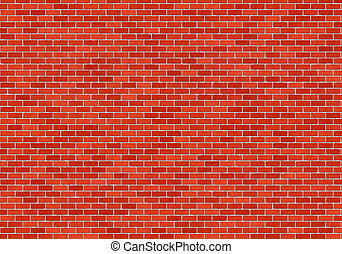 BrickWall - Texture of the red brick wall