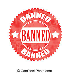 banned stamp - banned grunge stamp with on vector...