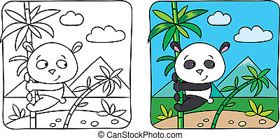 Little panda coloring book - Coloring picture of little...