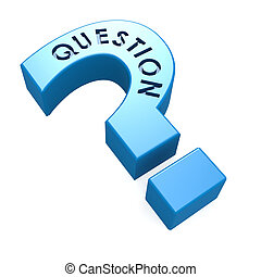 Blue isolated question mark