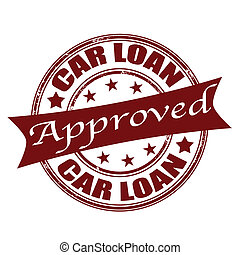 car loan approved stamp - car loan approved grunge stamp...