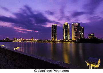 View of Putrajaya Building at sunse