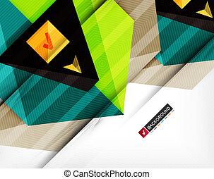 Abstract geometric shape composition