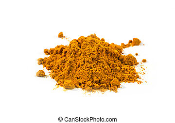turmeric powder on white background