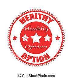 healthy option stamp