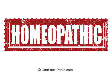 homeopathic stamp - homeopathic grunge stamp with on vector...