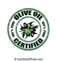 olive oil certified stamp - olive oil certified grunge stamp...