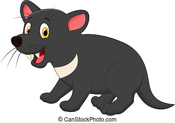 Tasmanian devil cartoon - Vector illustration of Tasmanian...