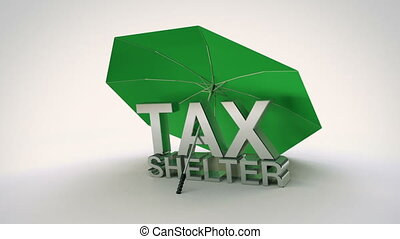 Tax Shelter Loop - Animation of tax shelter text under an...