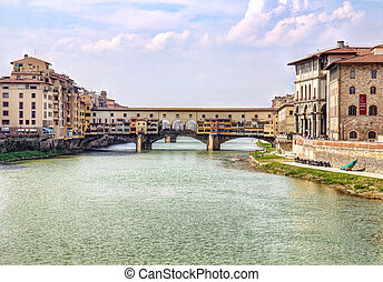 Ponte Vecchio bridge in Florence - Picturesque Ponte Vecchio...