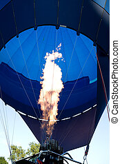 Balloon - Air balloon fire. Blue air balloon
