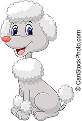 Cute poodle cartoon - Vector illustration of Cute poodle...