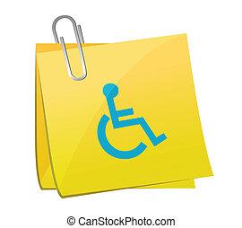 post it handicap illustration design