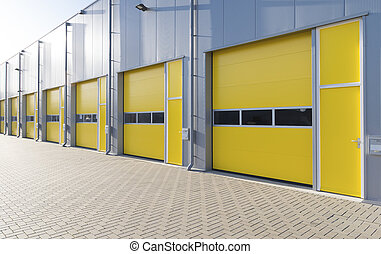 commercial warehouse - exterior of a commercial warehouse...