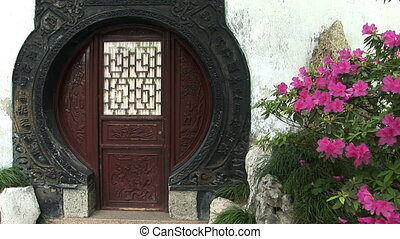 "Round Chinese Doorway - ""Unique round oriental door, Yuyuan..."